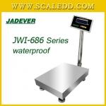 JWI-686-40x50 เครื่องชั่งน้ำหนักดิจิตอล150กิโลกรัม เครื่องชั่งกันน้ำ150kg เครื่องชั่งดิจิตอล150กิโลกรัม ความละเอียด1/30g JADEVER JWI-686 Waterproof ขนาดจานชั่ง 40x50 cm.