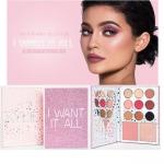 Kylie The Birthday Collection I Want it All Face Palette พาเลทเดียวได้ครบทั้ง อายเชโดว์ บรัช และไฮไลท์ ให้คุณครีเอทลุคสีชมพูได้น่ารักสุดๆ อายแชโดว์ 9 สี บลัช 1 ไฮไลท์ 1 พาเลทรุ่นนี้แบบคล้ายกับ Kylie's Diary แต่สีข้างในเป็นสีใหม่หมดเลย