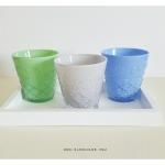 A Set Of 3 Glass Cups แก้วน้ำ เซต 3 ใบ