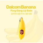 Tony Moly Dalcom Banana Pong-Dang Lip Balm 7g. ลิปปาล์มบำรุงริมฝีปาก ที่อุดมไปด้วยสารสกัดจากธรรมชาติจากกล้วย และเชียร์บัตเตอร์ ช่วยให้ริมฝีปากนุ่ม ชุ่มชื่นทันที พร้อมลดอาการระคายเคือง ให้ริมฝีปากคล้ำ แลดูจางลง มีกลิ่นหอมอ่อนๆจากกล้วย