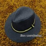 หมวกปานามาปีกกว้าง สีกรม,หมวกทรงปานามา หมวกคาวบอย ปีกกว้าง 6.5 ซม รอบศรีษะ 59 ซม. **สินค้าพร้อมส่งค่ะ***