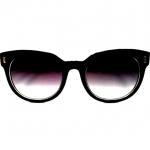 แว่นกันแดด ทรง Wayfarer Style กรอบดำ เล่นดำ