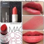 ลิปสติก MAC Cremesheen Lipstick # Crosswires สีชมพูประกายส้ม ลิปสติกเนื้อครีม สัมผัสนุ่มลื่น มีส่วนผสมของมอยเจอไรเซอร์ช่วยเพิ่มความชุ่มชื่นให้กับริมฝีปากคุณ พร้อมอณูมุกเล็กๆ ช่วยเพิ่มเสน่ห์ให้ริมฝีปากดูเซ็กซี่เย้ายวนใจ