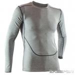 เสื้อรัดกล้ามเนื้อแขนยาว สีเทา Baselayer T-Shirt