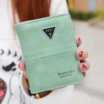 กระเป๋าสตางค์ผู้หญิง ทรงตั้ง รุ่น what สีเขียว มิ้นท์
