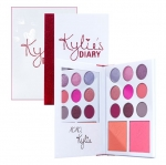Kylie's Diary Kyshadow + Blush Palette พาเลทอายเชโดว์ 9 สี+บรัชอออน 2 สี โทนส้มและชมพู ให้ลุคหวานน่ารักสุดๆ มาในรูปแบบของสมุดไดอารี่ แถมยังมีกระจกมาให้ด้วยนะคะ