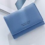 กระเป๋าสตางค์ผู้หญิงทรงสั้น Weichen Forever Young Blue ฟ้า