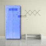 ม่านประตูแม่เหล็กกันยุงสีพื้นสีฟ้า ขนาด90*210 สำเนา