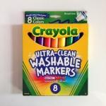 Crayola Ultra Clean Washable Markers Color Max สีเมจิก ล้างออกได้ มี 8 สี เส้นหนา ปลอดสารพิษ