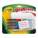 Crayola Dry-Erase Markers Fineline Bullettip ปากกาไวท์บอร์ด 4 แท่ง 4 สี ปลอดสารพิษ