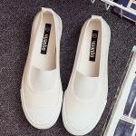 รองเท้าผ้าใบผู้หญิงสีขาว แบบสวม แฟชั่นมาใหม่ น่ารัก ไม่ซ้ำใคร แฟชั่นเกาหลี
