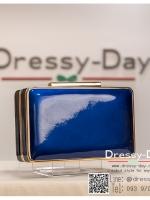 กระเป๋าออกงาน TE032 : กระเป๋าคลัชพร้อมส่ง สีเงิน ขอบทอง สวยแบบเรียบหรู ใช้สะพายออกงานเช้า กลางวัน หรือถือไปงานกลางคืน สวยหรู ดูดีมากๆ