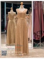 รหัส ชุดราตรี :PF088 ชุดราตรียาว สีทอง ดีเทลเพชรทั้งชุด สวยหรูสง่าดูดีมากๆ จะใส่ไปงานแต่งงาน งานเลี้ยง งานประกวด งานรับรางวัล งานกาล่าดินเนอร์ งานพรอม งานบายเนียร์ หรือเป็นชุดเพื่อนเจ้าสาว สวยหรู ดูดีสุดๆ