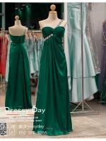 รหัส ชุดไปงานแต่งงาน :PF063 ชุดราตรียาว ไหล่เดี่ยว สีเขียว ใส่แล้วสวยหรูแต่แอบเซ็กซี่เบาๆ ใส่ออกงานกลางคืน ไปงานแต่งงาน งานเลี้ยง งานรับรางวัล งานบายเนียร์ งานพรอม งานกาล่าดินเนอร์ งานเดินพรหมแดง หรือชุดเพื่อนเจ้าสาว สวยปังมาก