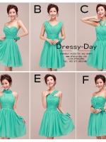 รหัส ชุดเพื่อเจ้าสาว : FE011 ชุดเพื่อนเจ้าสาวแบบสั้น ใส่งานเช้า กลางคืน แบบสวยๆทั้งนั้นเลย สีเขียว