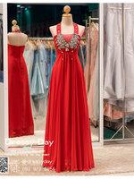 รหัส ชุดราตรีคนอ้วน : BB011 ชุดราตรียาวสีแดง ชุดไปงานแต่งตกแต่งกริตเตอร์ ชุดแซกพร้อมส่ง ใส่เป็นชุดเดรสออกงานสวยมากๆ ค่ะ