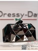 กระเป๋าออกงาน TE033 : กระเป๋าออกงาน สีดำ พร้อมส่ง สวยเก๋แบบไม่ซ้ำใคร ใช้สะพายออกงานเช้า กลางวัน หรือถือไปงานกลางคืน ออกเดท สวยหรูดูดีที่สุด