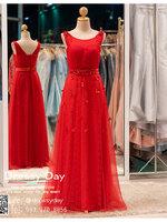 รหัส ชุดราตรีคนอ้วน : BB010 ชุดราตรียาวสีแดง ชุดไปงานแต่งตกแต่งลูกไม้ ชุดแซกพร้อมส่ง ใส่เป็นชุดเดรสออกงานสวยมากๆ ค่ะ