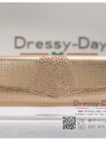 กระเป๋าออกงาน TE070 : กระเป๋าออกงานพร้อมส่ง สีทอง ดีเทลเพชร สุดหรู ราคาถูกกว่าห้าง ถือออกงาน หรือ สะพายออกงาน สวย หรู ดูดีเริ่ดมากค่ะ