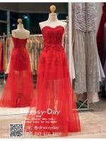 รหัส ชุดราตรี : PFL00023 ขายชุดราตรี สีแดง ดีเทลเก๋ด้านนอกยาวด้านในสั้น สวย หรู เซ็กซี่มาก ใส่ออกงาน กาล่าดินเนอร์ งานพรหมแดง ไปงานแต่งงาน ชุดยกน้ำชา ชุดถ่ายพรีเวดดิ้ง ชุดเพื่อนเจ้าสาว