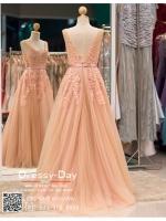 รหัส ชุดราตรี :PF074 ขาย ชุดราตรีสีชมพูกะปิ ชุดราตรียาว สุดหรู น่ารักแบบเจ้าหญิง ใส่แล้วดูสง่ามากๆค่ะ ใส่ไปงานแต่ง งานพรหมแดง งานกาล่าดินเนอร์ งานรับกระบี่ ชุดถ่ายพรีเวดดิ้ง