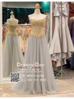 รหัส ชุดราตรียาว : PF014 ชุดราตรียาว เดรสออกงาน ชุดไปงานแต่งงาน ชุดแซก สีเทา เกาะอก เหมาะสำหรับงานแต่งงาน งานกลางคืน กาล่าดินเนอร์