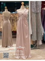 รหัส ชุดไปงานแต่งงาน :PF063 ชุดราตรียาว ไหล่เดี่ยวสีแชมเปญ สีนู๊ด ใส่แล้วสวยหรูแต่แอบเซ็กซี่เบาๆ ใส่ออกงานกลางคืน ไปงานแต่งงาน งานเลี้ยง งานรับรางวัล งานบายเนียร์ งานพรอม งานกาล่าดินเนอร์ งานเดินพรหมแดง หรือชุดเพื่อนเจ้าสาว สวยปังมาก