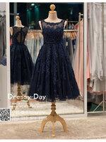 รหัส ชุดราตรี :PF101 ชุดแซก ชุดราตรีสั้น หรู สีน้ำเงิน สวย สง่า ดูดีแบบเจ้าหญิง ใส่ไปงานแต่งงาน งานกาล่าดินเนอร์ งานเลี้ยง งานพรอม งานรับกระบี่