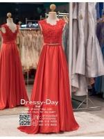 รหัส ชุดราตรียาว : PF002 - 6 ชุดราตรียาว เดรสออกงาน ชุดไปงานแต่งงาน ชุดแซก สีแดง สวยด้วยลูกไม้ด้านบนและเรียบหรูด้วยผ้าซาติน เหมาะสำหรับงานแต่งงาน งานกลางคืน กาล่าดินเนอร์