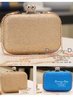 กระเป๋าออกงาน BM001: กระเป๋าคลัชสวย หรู สีทอง สีน้ำเงิน ราคาถูก ใส่คู่กับชุดเดรสออกงานน่ารักมากค่ะ