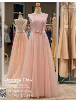 รหัส ชุดราตรียาว : PFL015 ชุดแซก ชุดราตรี after party สีชมพู แขนกุด มีโบว์น่ารักที่เอว สวยเก๋เหมาะใส่ออกงานกลางคืน งานแต่งงาน หรือใส่เป็นชุดพรีเว็ดดิ้งก็สวยเริ่ดคะ