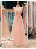 รหัส ชุดราตรี : PF073 ชุดราตรียาว สีชมพูพร้อมส่ง สวยหรูกับดีเทลลูกไม้ ราคาถูกกว่าเช่า ใส่ไปงานแต่งงาน งานปาร์ตี้ งานเลี้ยง ชุดเพื่อนเจ้าสาว ชุดถ่ายพรีเวดดิ้ง