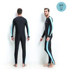 ชุดว่ายน้ำ ดำน้ำผู้ชาย 2xl รอบอก 38-42 เอว 32-38 สะโพก 40-48 ยาว 52 นิ้วค่ะ ซิปหน้า เนื้อผ้าดียืดได้เยอะค่ะ