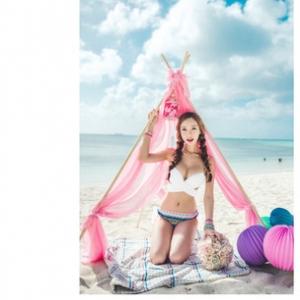 ชุดว่ายน้ำ ไซส์ xl สีขาว กางเกงผ้าลาย รอบอก 32-36 สะโพก 32-38 นิ้วค่ะ สวยมากค่ะ