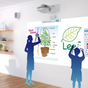 โปรเจคเตอร์ interactive แตกต่างกับ interactive board(กระดานอัจฉริยะ) อย่างไร