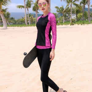 ชุดว่ายน้ำ กัน uv 4xl อก 38-44 กางเกงขายาว เอว 36-42 สะโพก42-50 นิ้วรอบวงแขน 16-20 นิ้ว ผ้าดี งานสวย คุ้มมากๆค่ะ