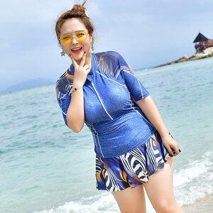 ชุดว่ายน้ำคนอ้วน 6xl เสื้อ +กางเกงกระโปรง รอบอก 40-48 รอบเอว 36-42 สะโพก46-54 นิ้วค่ะ ผ้าดี งานสวยมากค่ะ