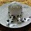 หมวกปีกกว้าง หมวกไปทะเล หมวกสานโทนน้ำตาล แต่งโบว์ลายเก๋ๆ thumbnail 1