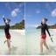 ชุดว่ายน้ำทูพีชแขนยาวกัน uv รอบอก 32-38 รอบเอว 28-32สะโพก 34-42 นิ้วค่ะ thumbnail 2