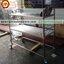 ชั้นวางถาดหลุมสแตนเลส 2 ชั้น 002-RS-002 ชั้นเสียบถาดหลุมโรงเรียนตรงมาตราฐานสาธรสุขเมืองไทย,Stainless slatted Shelves for food tray thumbnail 3