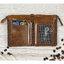 กระเป๋าสตางค์หนังแท้ หนังนิ่ม กระเป๋าสตางค์ผู้ชาย สีน้ำตาล รุ่น Contacts two Zipper Brown ส่งพร้อมกล่อง thumbnail 4