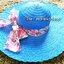หมวกปีกกว้าง หมวกเที่ยวทะเล หมวกปีกว้างสีน้ำเงินน่ารักๆค่ะ แต่งโบว์ใหญ่ลายดอกไม้วินเทจรอบเก๋ ๆ thumbnail 2