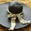 หมวกปีกกว้าง หมวกเที่ยวทะเล หมวกปีกว้างสีดำ แต่งโบว์ใหญ่ลายเสือเก๋ๆ thumbnail 2