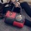 กระเป๋าถือขนาดกลาง กระเป๋าสะพายไหล่ สะพายข้าง Hand Bag Red Black สีแดงดำ thumbnail 5