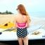 ชุดว่ายน้ำ ไซส์ xl ทูพีช ตัวเสื้อสีบานเย็น รอบอก 36-38 นิ้ว กางเกง เอว 30-34 สะโพก 36-40 นิ้ว สวย เก๋ มากๆค่ะ thumbnail 3