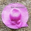 หมวกปีกกว้าง หมวกเที่ยวทะเล หมวกปีกว้างสีชมพู คาดโบว์ใหญ่เก๋ๆ thumbnail 3