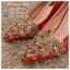 รหัส รองเท้าไปงาน : RR001 รองเท้าเจ้าสาว พร้อมส่ง ตกแต่งคริสตัลสวยๆ สีแดง ปักดิ้นทอง สวย สง่า ดูดีแบบเจ้าหญิง ใส่เป็นรองเท้าคู่กับชุดกี่เพ้า ชุดยกน้ำชา ชุดงานหมั้น หรือ ใส่ออกงาน กลางวัน กลางคืน สวยสง่าดูดีมากคะ ราคาถูกกว่าห้างเยอะ thumbnail 3