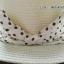 หมวกปีกกว้าง หมวกเที่ยวทะเล หมวกสาน สีครีม แต่งโบว์ลายจุดรอบเก๋ ๆ thumbnail 3