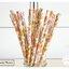 Floral Pattern Paper Straws หลอดกระดาษ ใช้สำหรับดื่มน้ำ thumbnail 4