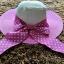 หมวกปีกกว้าง หมวกเที่ยวทะเล หมวกปีกว้างสีทูโทน ขาว-ชมพู คาดโบว์ใหญ่ลายจุดเก๋ๆ thumbnail 2